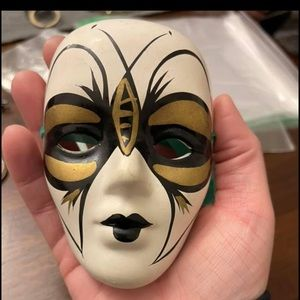 Ceramic Mardi Gras Mask